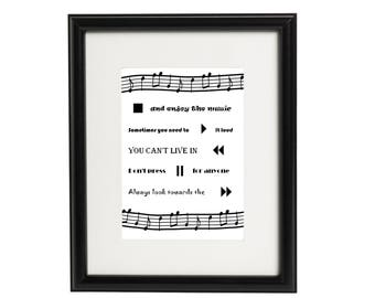 Printable Music Wall Art