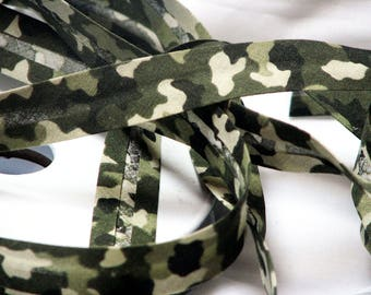 Khaki military Camouflage bias by the yard