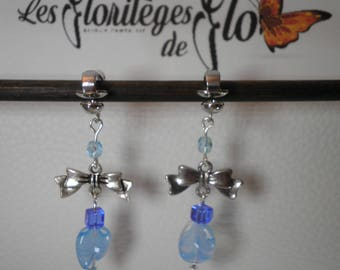 02358 - Earrings blue and silver