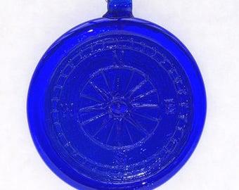 Cobalt blue glass suncatcher