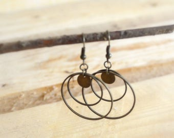 Bronze earrings - elegant and uncluttered Style