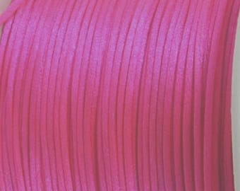 Rat tail cord - pink - 2 mm x 10 m - new