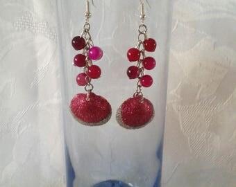Glitter seashell earrings