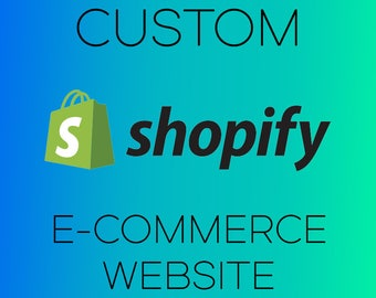 Basic Custom Shopify E-Commerce Website Design, Custom Web Design, Online Store Business Setup, Responsive Ecommerce Website Template