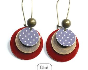 Earrings print dots