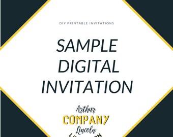 Sample Digital Invitation/Announcement