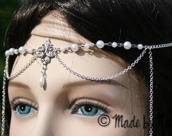 Fleur de lis wedding tiara tiara elven Celtic necklace white