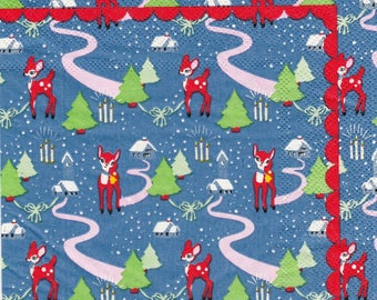 SMALL Christmas decorations pattern 4 X 1 paper towel 507