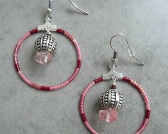SQUAW red brass hoop earrings