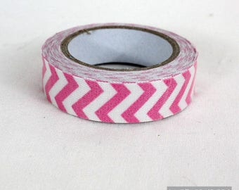 masking tape 15 mm cotton pink chevron