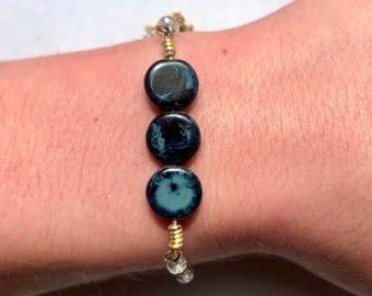 Multicolored Blue Stone Bracelet