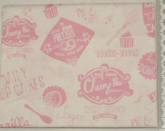 Fabric - Retro Bake 01 - Makower kitchen vintage