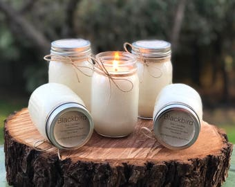 FRENCH PEAR Mason Jar Soy Candle 16oz.