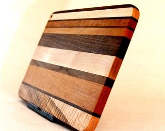 Three Wood Edge Grain Cutting Board