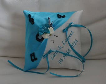 music theme wedding ring bearer pillow