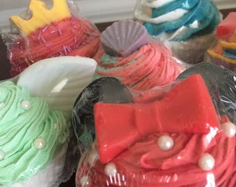 4-pack Character Cupcake Bath Bombs - your choice of characters