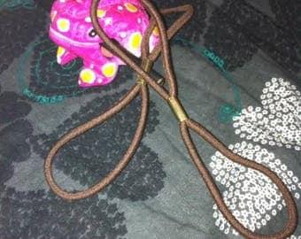 The brown elastic for headband Headband