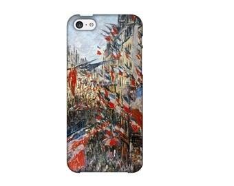 Case for iPhone 4-5-6-7, Rue Montorgeuil, Claude Monet