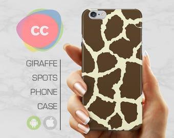 Giraffe Print Phone Case / iPhone 7 Case / iPhone 6S, 6, 5, 5S, SE, Plus Case / Samsung Galaxy S8, S7, S6 Gift Case - PC-110