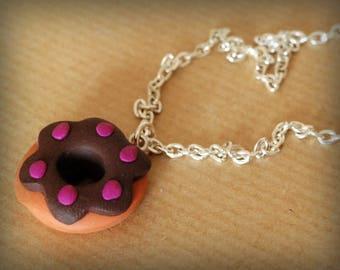 Blueberry Donut necklace