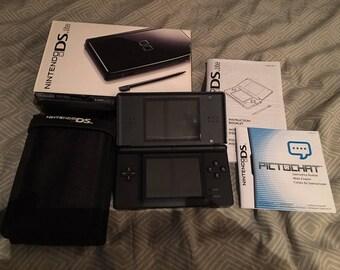 Black DS Lite w Box, Softcase, DS NM Bundle *Look*