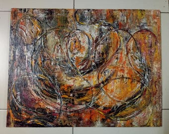 Abstract textured original painting