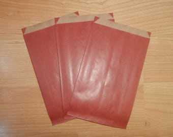 10 Red 12x20cm paper gift bags / gift wrapping