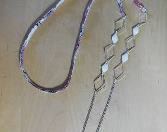 Liberty necklace, chain and colourful and white sequins
