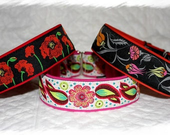 """Dog collar """"Flo"""" Jacquard ribbon in an unique colourful """"Cool"""" style for Pet accessories Fashion"""