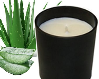 Natural scented candle, scented aloe vera 450 g