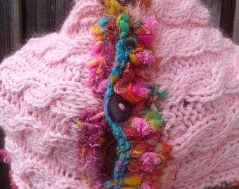 "Woman Snood wool ""Cotton candy"""