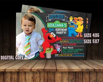 Sesame Street Invitation,Sesame Street Birthday,Sesame Street Party,Sesame Street Card,Sesame Street Printable,Sesame Street,Sesame