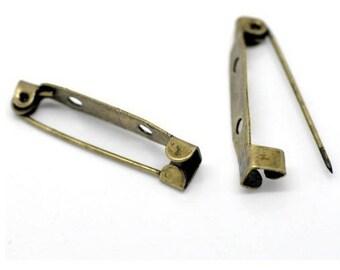 Set of 5 ties of 3,1 cm brooch vintage pin