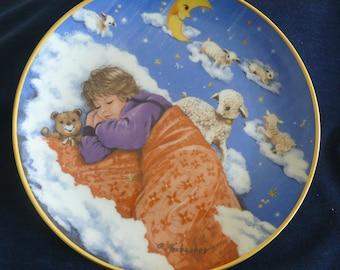 "Vintage Bradford Exchange Collectible Plate (circa 1985) - ""Sleep Baby Sleep"" - Gerda Neubacher"