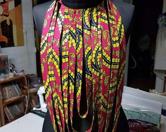 African WAX print fabric jewelry