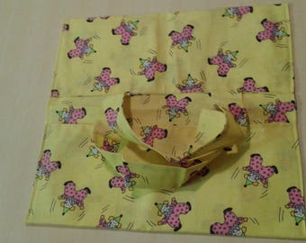 bag pie reversible yellow rose and clown