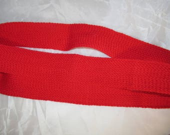 1.5 meters of Ribbon red 3 cm strap