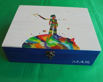 Personalized box, Jewelry box, Personalized gift, Souvenir box, Wooden box, Personalized box with image of the Little Prince