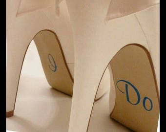 "wedding shoe stickers ""i do"""