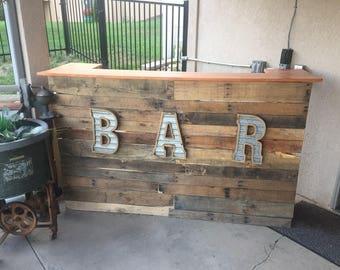 Outdoor Bar Reclaimed Pallet Wood