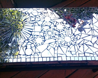 Handcrafted Mirror Mosaic & Tiled Table