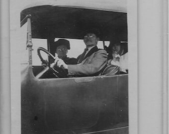 "1918 original 2.5"" x 3.5"" photo of automobile from california"