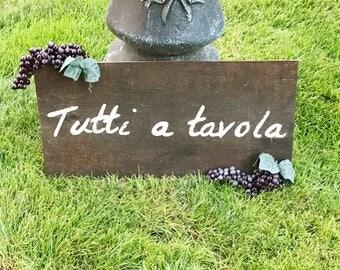 Distressed Rustic Italian Phrase Sign Distressed Rustic Decor Tuscan Decor Kitchen Sign