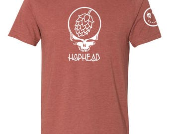 Hop Head T-Shirt - Maroon
