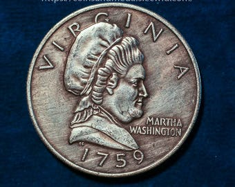 """USA (1759) 50C Martha Washington """"Half Dollar"""" COIN COPY"""