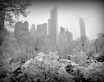"""Photography black and white: """"Sail on Central Park"""" - New York, U.S.A. - 2017"""