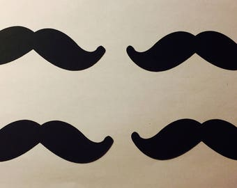 50 Pieces of paper mustaches (Can come in different colors)