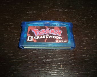 Pokemon Snakewood Nintendo Game Boy Advance GBA Blue clearshell