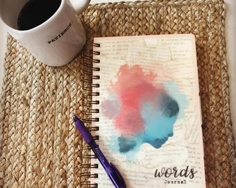 Organized Words Journal with customized tabs