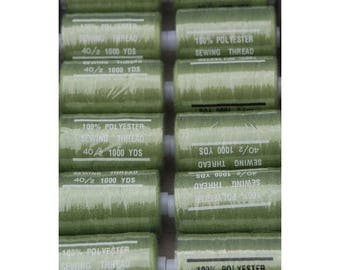 light khaki polyester 1000 thread 235 yards